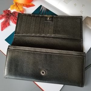 Gucci Long Bifold wallet black leather